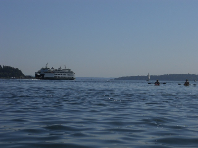 MV Kitsap on its way to Seattle in August 2012.