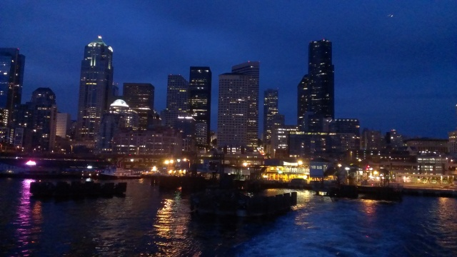 The Bremerton and Bainbridge ferries provide stunning views of downtown Seattle.
