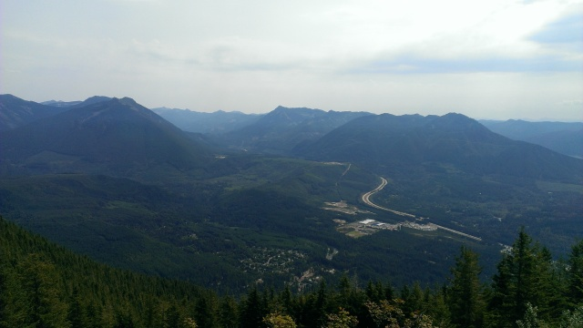 View from the top of Mt. Si near North Bend, WA.