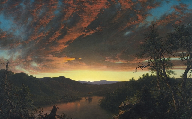 Twilight in the Wilderness by Frederic Edwin Church. 1860. (Wikipedia Commons)