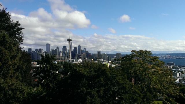 The famous view from Kerry Park.