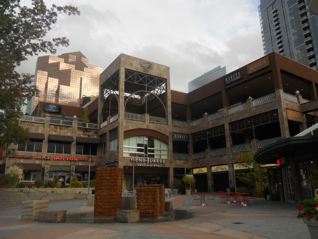 A shopping center in downtown Bellevue.