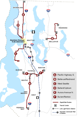 The future system map. More details at King County Metro's website.