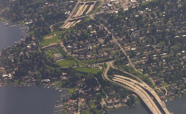 Mercer Island's lid over Interstate 90. (John Meister)