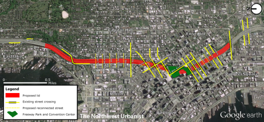 Proposed 2.5 mile route of the lid. Click to enlarge.