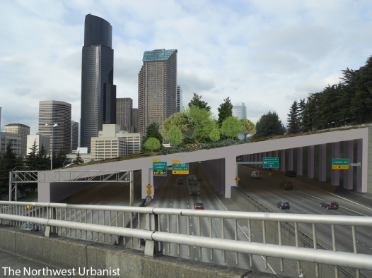 Looking north from the Yesler Street bridge.