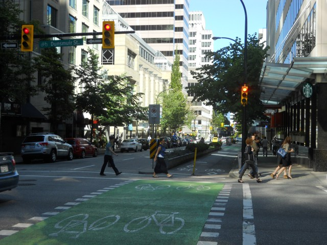 Vancouver has a comprehensive bicycle network.