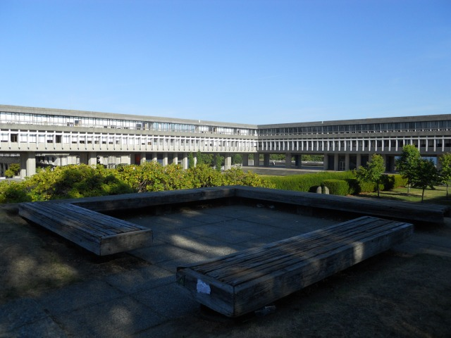 The SFU campus is beautifully designed and landscaped.