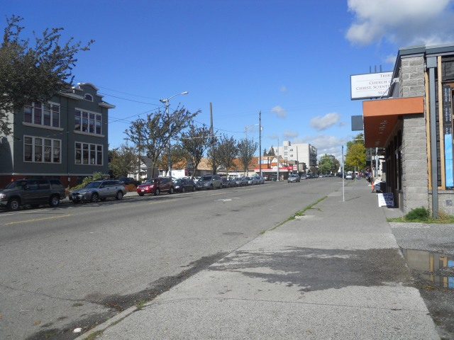 The Ave north of 50th has a much wider right-of-way that could be better utilized.