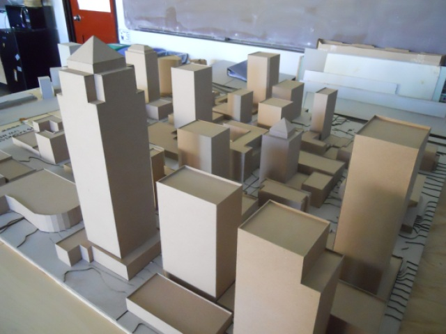 Model of Downtown Seattle building form. (Photo by the author)