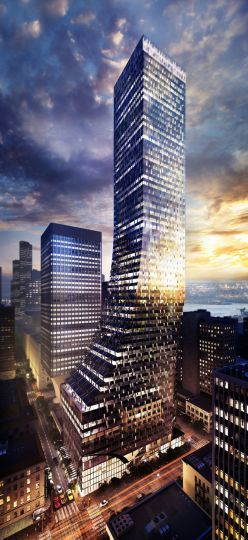 The proposed boot-shaped tower on the Rainier Square site. (NBBJ New York)