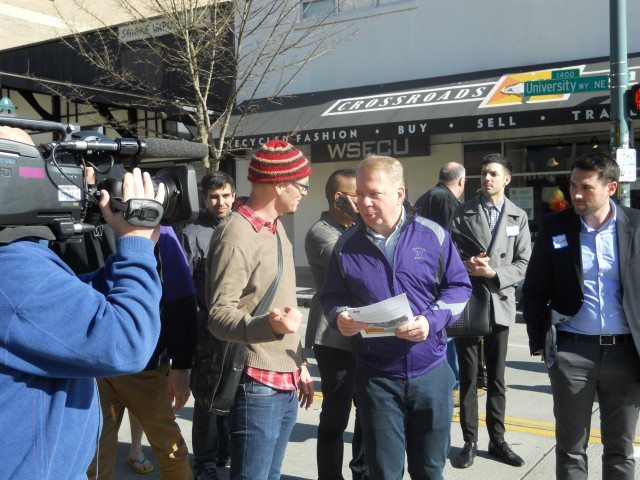 Mayor Murray on a community walk in February 2015. (Photo by the author)
