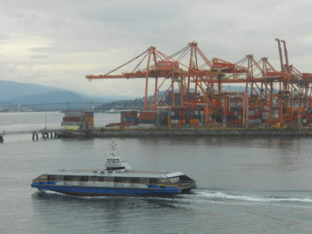 Port Metro Vancouver and the SeaBus ferry. Photo by the author.