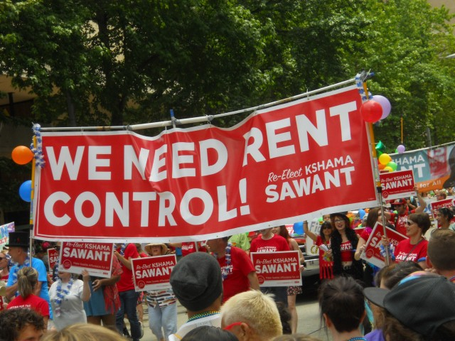 Increasing rents have become a hot political issue in Seattle. Photo by the author.
