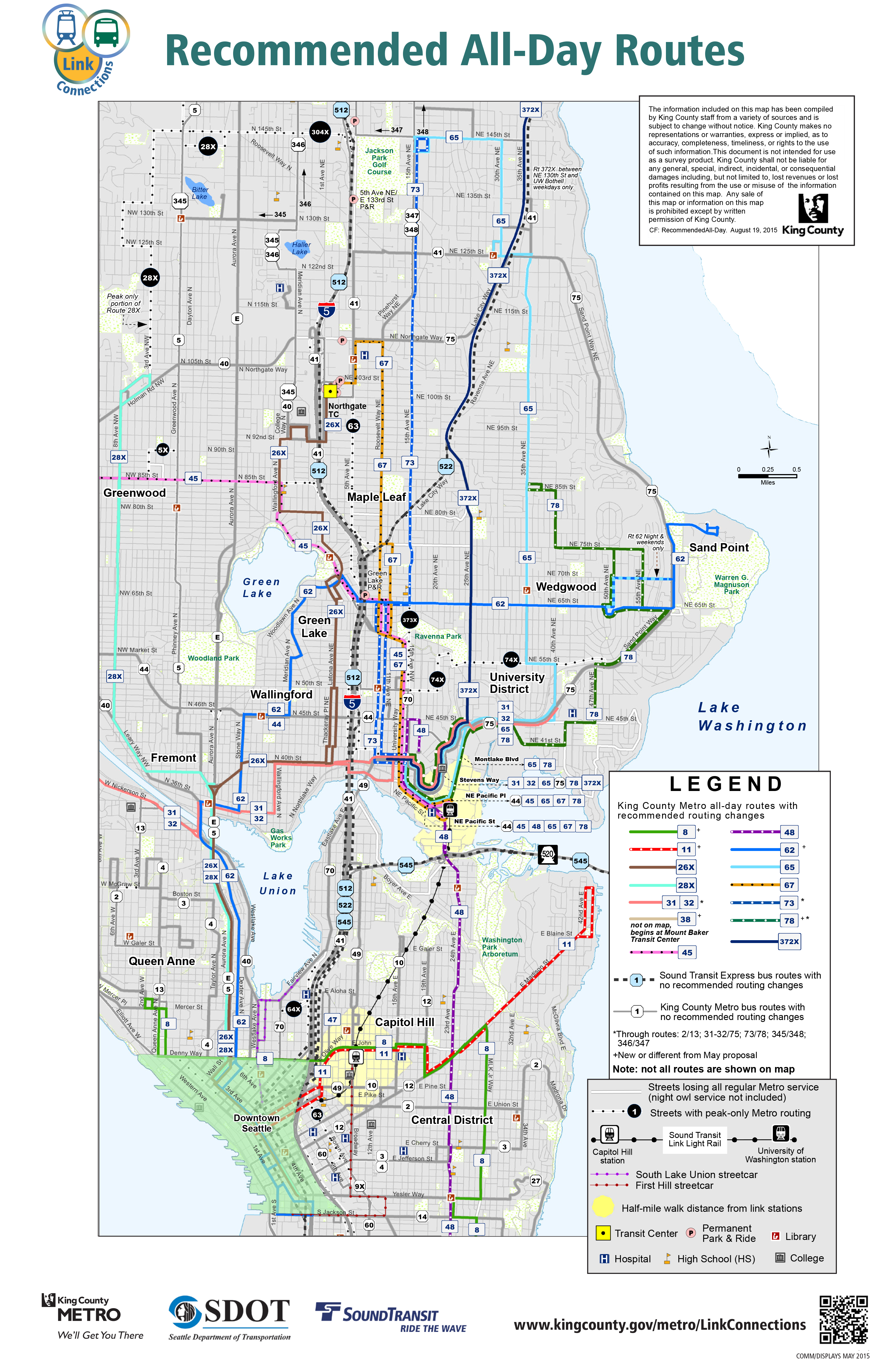 King County Council Receives Recommended U-Link Bus