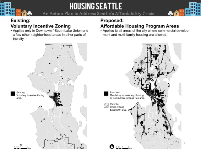 Where the MHA-Commercial program will apply. (Seattle DPD)