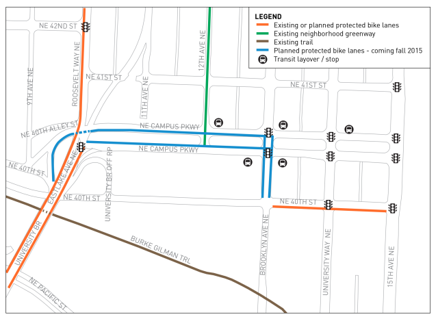 Campus Parkway project map. (SDOT)