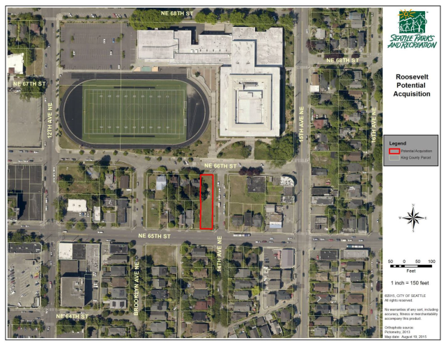 The parcel to be acquired by the City. (City of Seattle)