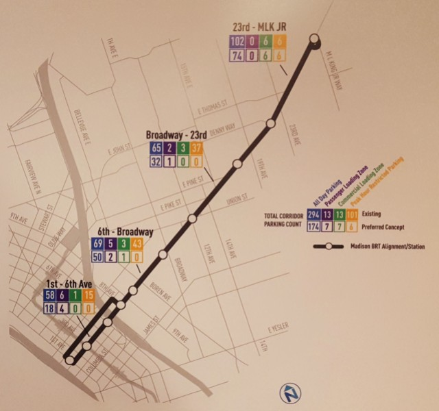 Project map and parking impacts. (Photo by the author)
