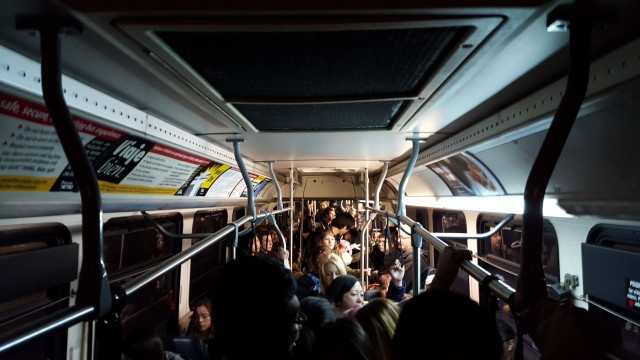 Standing room only on one of the last 71s, even at 9pm on a Friday. (Photo: author)