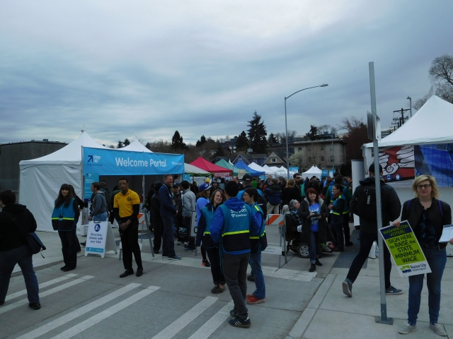 Opening day street festival on the newly opened Denny Way at Capitol Hill Station. (Photo: author)