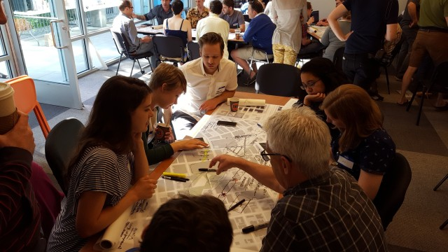 A charrette team at work. (Photo by the author)