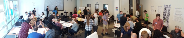 The Lid I-5 charrette room and participants. (Photo by the author)
