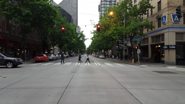 4th Avenue in Belltown. (Photo by the author)