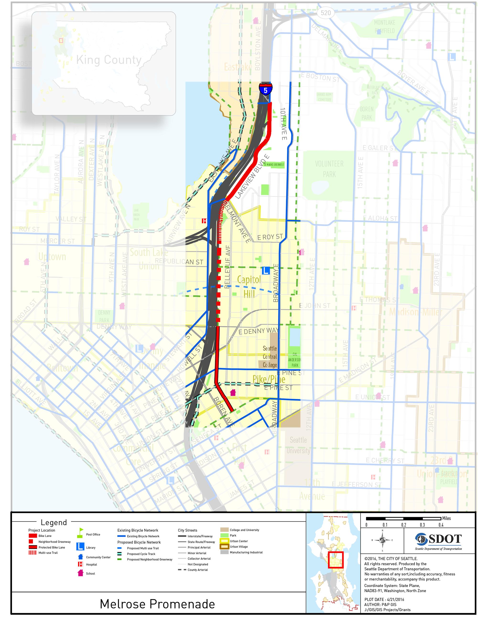 WSCC Level  Visit Seattle Seattle Convention Center Map Wire Get - Washington dc bike lane map