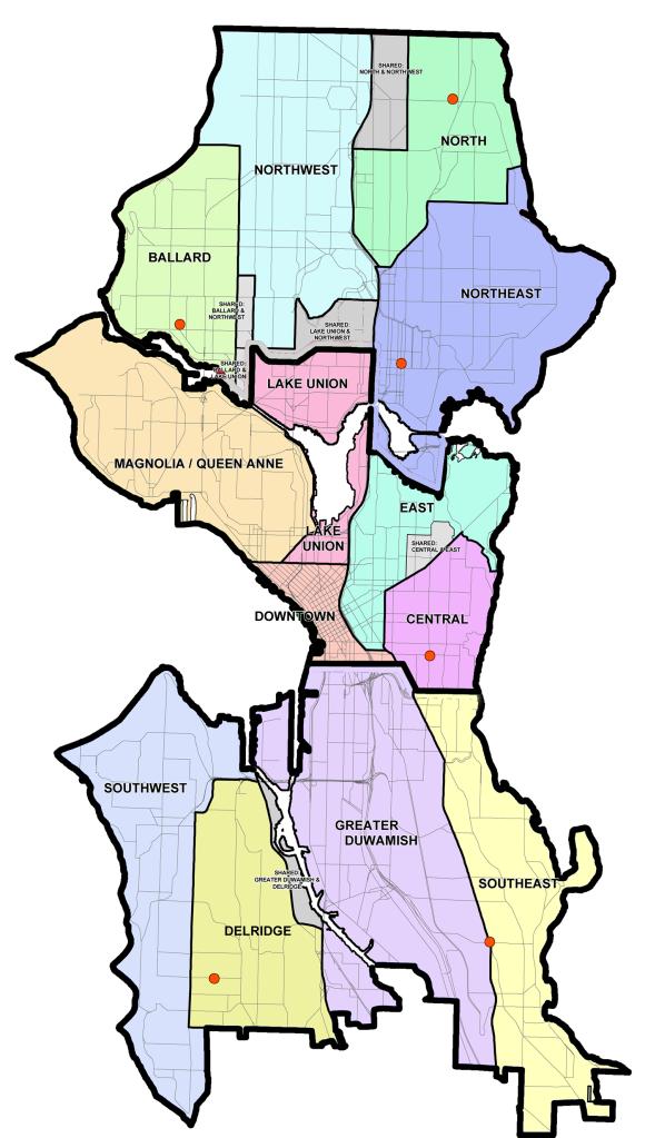 Seattle's neighborhood districts. (Seattle Department of Neighborhoods)
